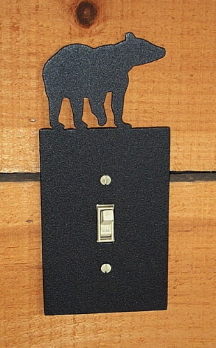 Bear light switch cover decorative metal switch plate cover bear light switch cover sciox Image collections
